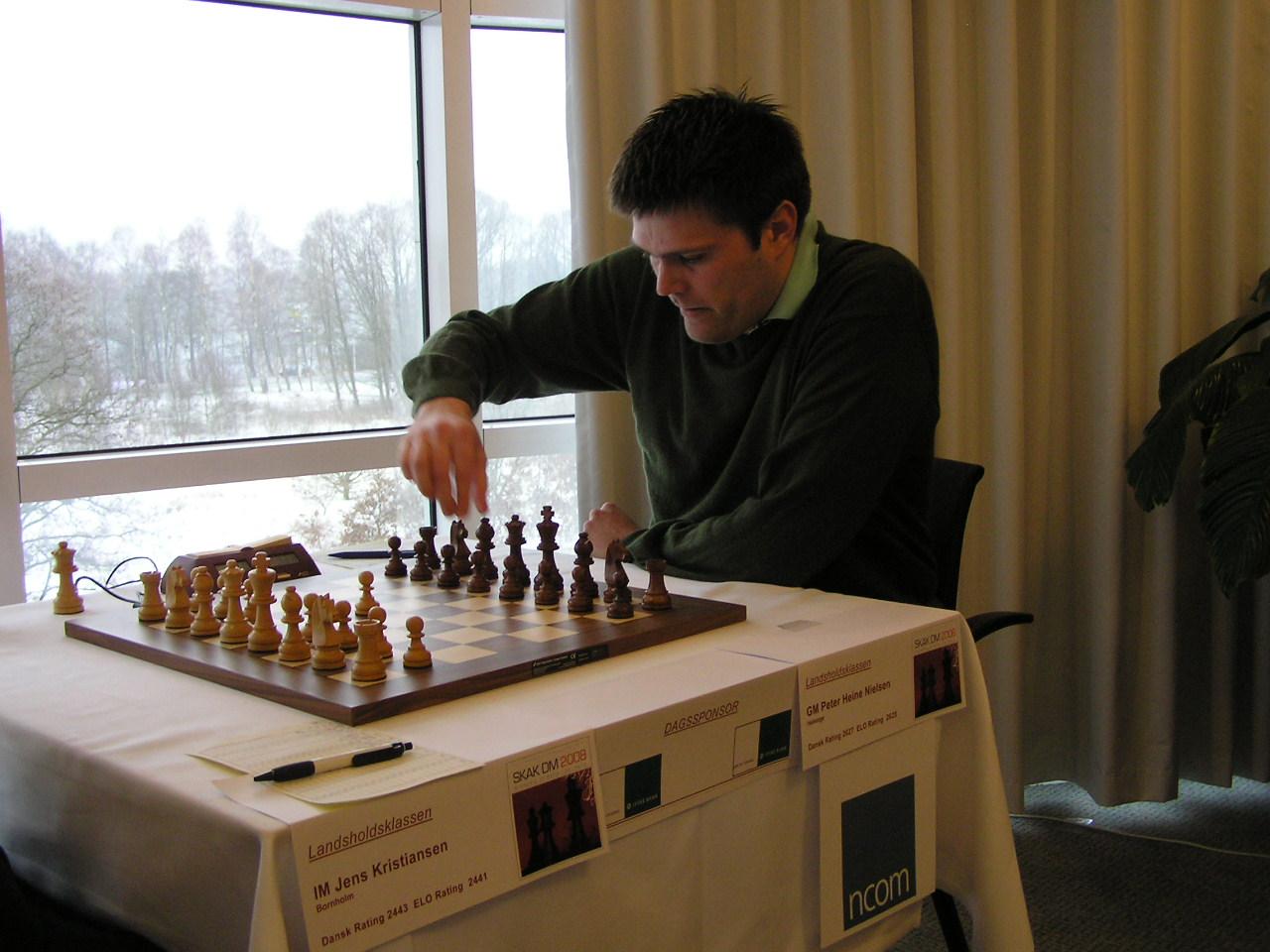 Peter Heine Nielsen under  DM 2008 i Silkeborg